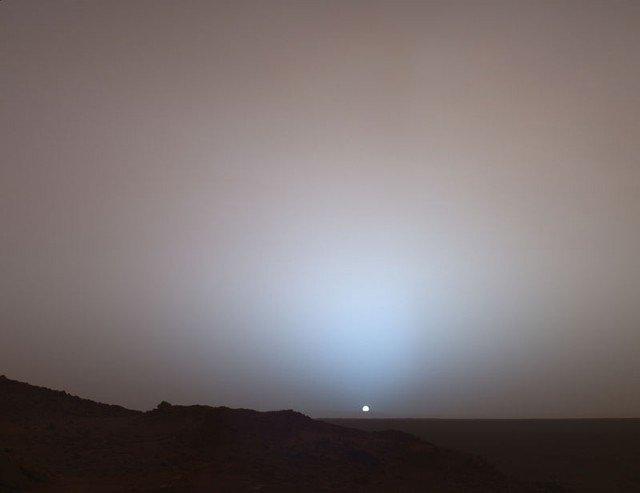 Марс закат