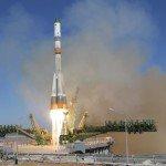 "Ракета ""РН Союз-2.1а"" с кораблем ""Прогресс МС-08"" успешно стартовала с космодрома Байконур"