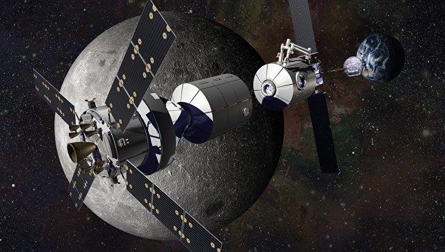Орбитальная лунная станция Луна